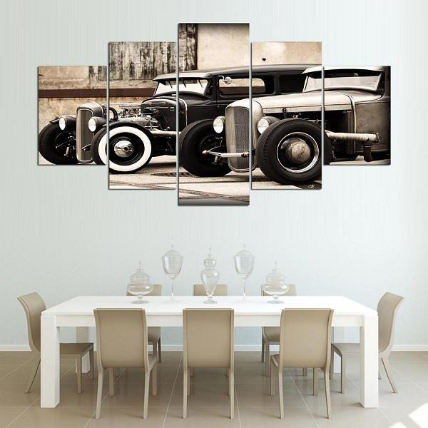 Rod 5 Piece Canvas Set