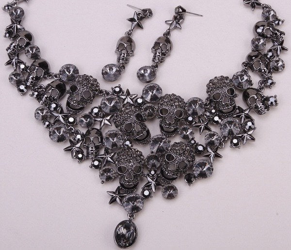 Skulls And Stars Jewelry Set