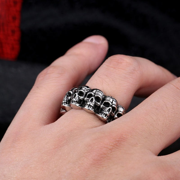 Stainless Steel Gothic Skull Ring