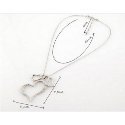Three Heart Necklace