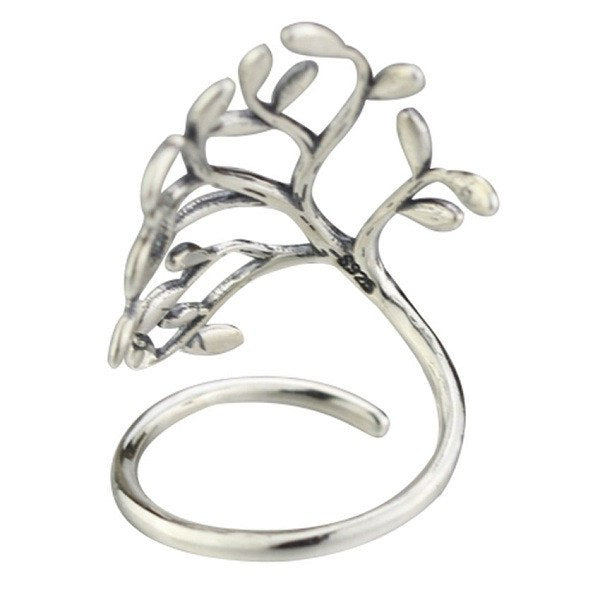 Tree Wrap Silver Ring