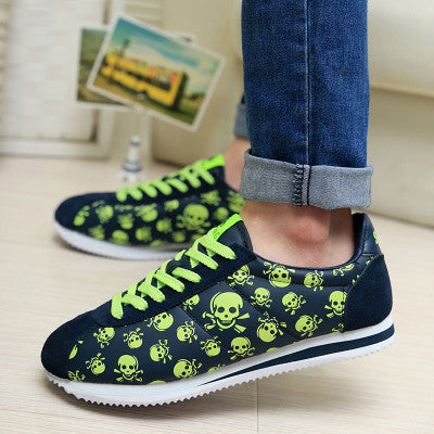 Unisex Casual Skull Shoes