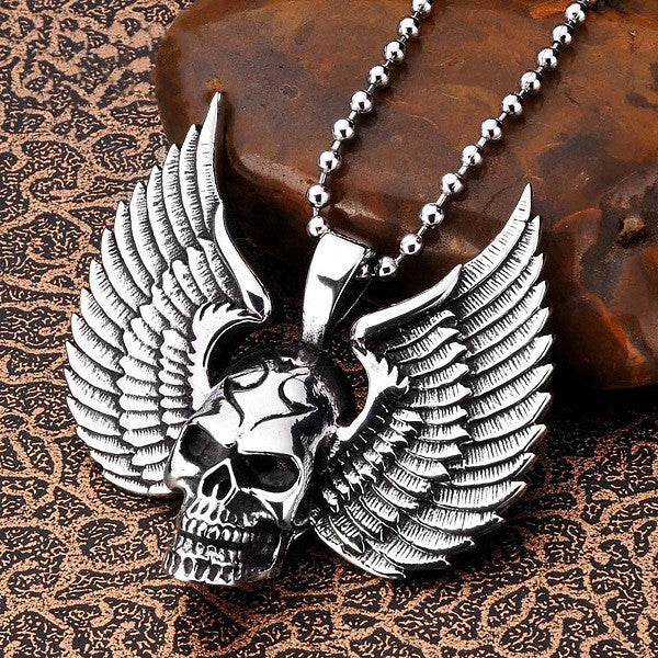 Winged Skull Necklace