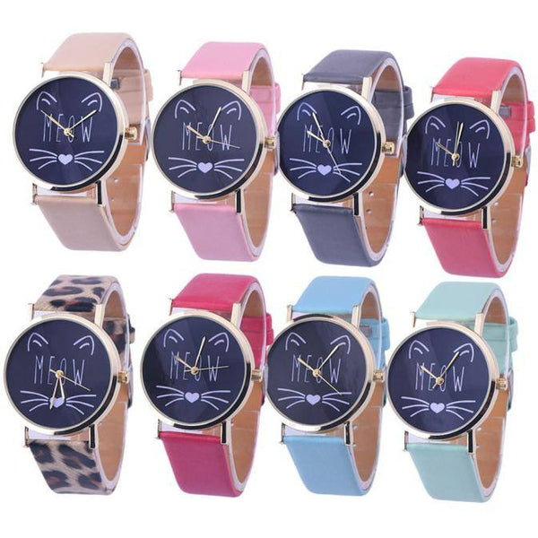 Women's Casual Cat Pattern Wristwatch