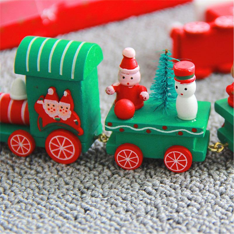 wooden train christmas decor blue fire store