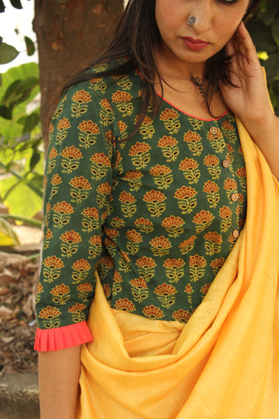 Cotton Blouse In Ajrakh  CC-CT1-C2