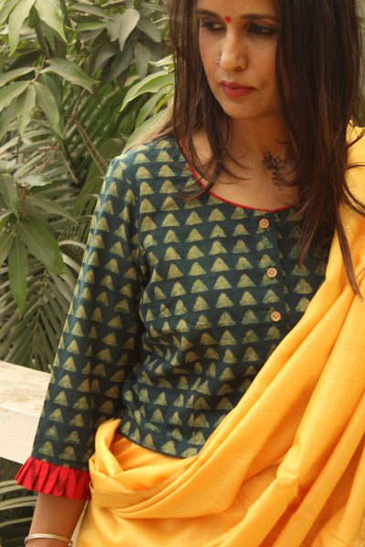 Cotton Blouse In Ajrakh  CC-BL-C1
