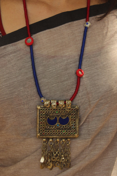 Afghan necklace with dori work. CC-AFG2-C7