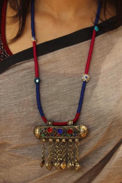 Afghan necklace with dori work. CC-AFG3-C7