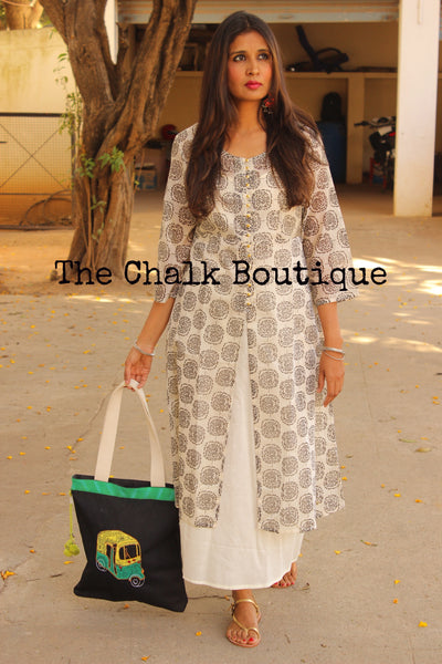 Chanderi Maxi Dress GC-D-79