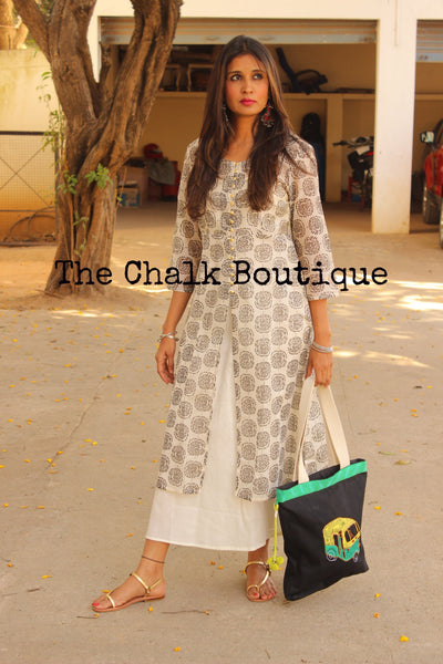Chanderi Maxi Dress GC-D-79-The Chalk Boutique