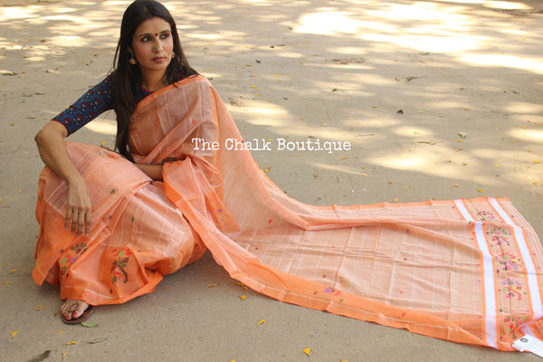 Chedi butta cotton silk saree. RK-CB6-C30