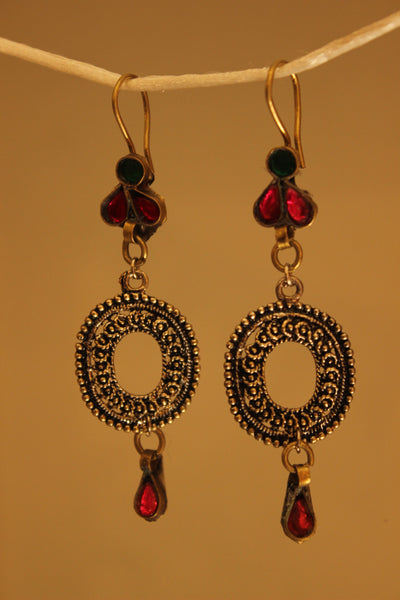 Round Metal earrings. CN-JAE-15