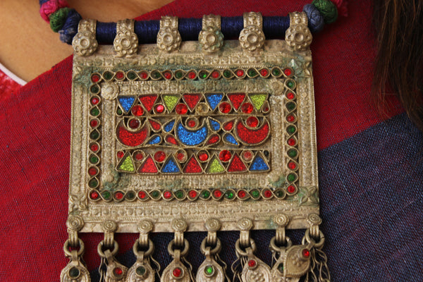 Adjustable Antique Afghan neck piece B-NK-018