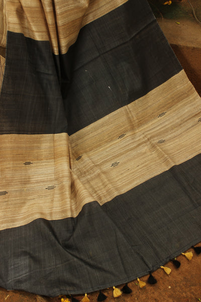 | Creams | - Pure tussar silk saree in beige.