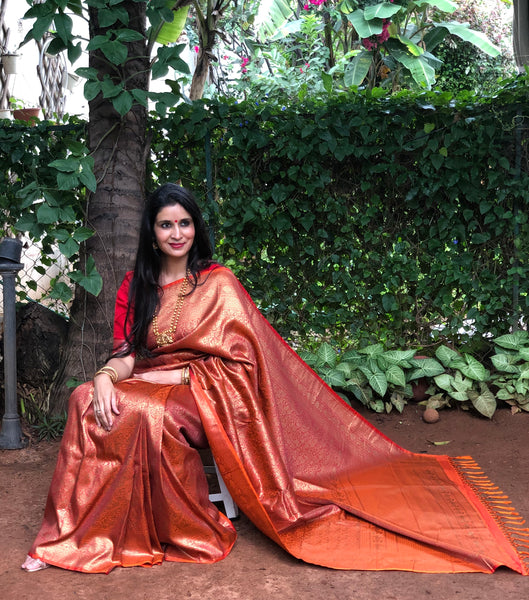 Heavy Zari Benarasi Summer silk saree.