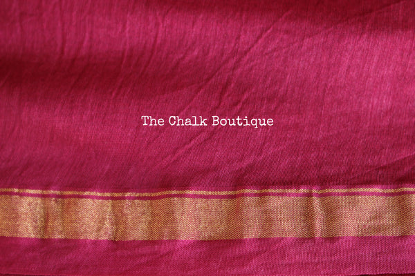 | Hara-Gulabi | - Pink and Green Shibori chanderi saree.
