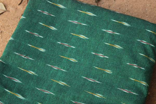 Green Cotton Ikat fabric TCB-BP3-P1