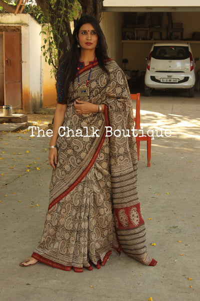 | Maharani | - Hand Block printed Chanderi Saree.