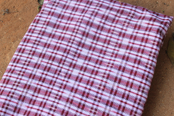 Checked Ikat Cotton Fabric TCB-BP5-P1