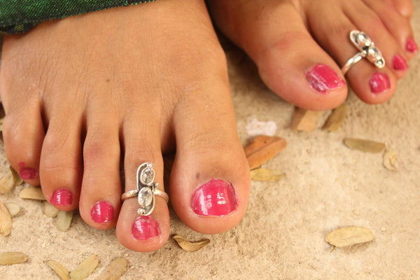 92.5 Silver Toe rings ( a pair). VA-TR-8