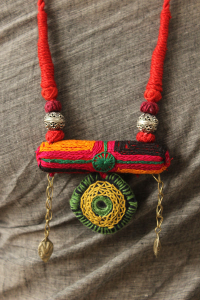 Adjustable Lambani Dori necklace. CC-LB2-C8