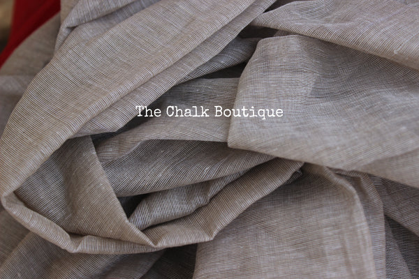 Grey 'handloom mark' handwoven begumpuri saree. TCB-MP1-BG2-The Chalk Boutique