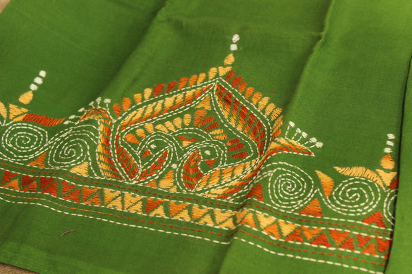 Hand stitched kantha blouse fabric. TCB-KN-BP-7