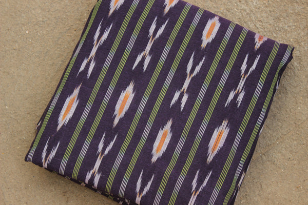 Purple Colour Ikat Cotton Fabric TCB-IKT7-P2