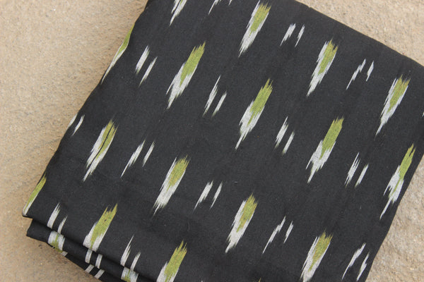 Black Colour Ikat Cotton Fabric TCB-IKT9-P2