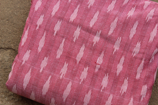 Pink Colour Ikat Cotton Fabric TCB-IKT10-P2
