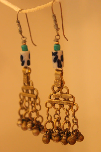 Ceramic Antique finish Earrings. B-EA-057