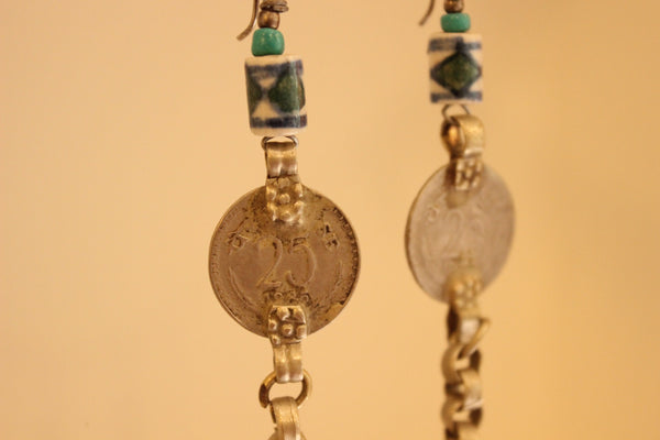 Ceramic Antique finish Earrings. B-EA-039