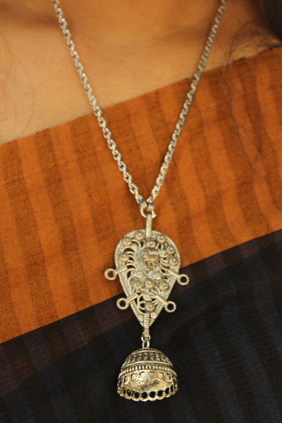 German Silver Pendant With Chain. CN-APGSN5