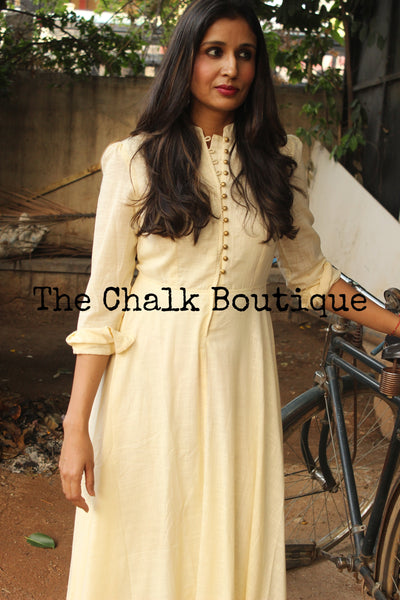 Off White Maxi dress GC-D-104B-The Chalk Boutique
