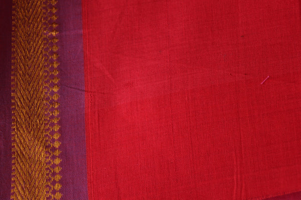 South Cotton Saree With Thin Zari Border MO-SOU-2-The Chalk Boutique