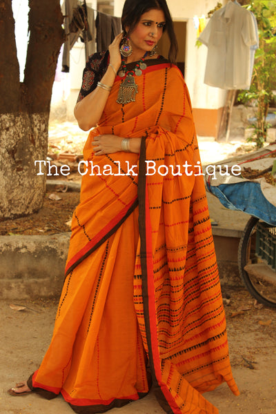 Mustard 'handloom mark' handwoven begumpuri saree. TCB-AM2-BG