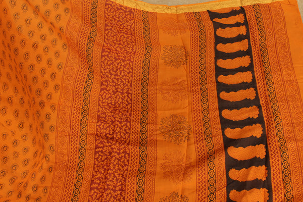 'Bagh' hand block printed saree in Cotton. BH-BGH-6-C1
