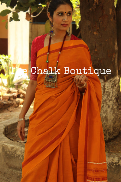 Mustard 'handloom mark' handwoven begumpuri saree with dobby naksha. TCB-PC1-BG