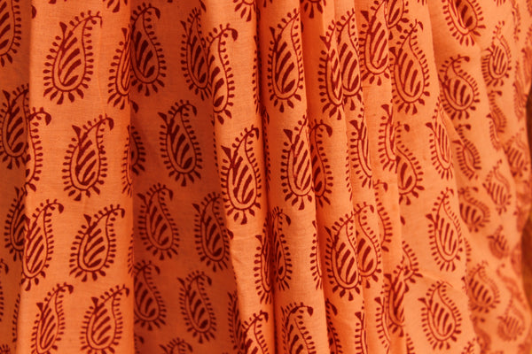 'Bagh' hand block printed saree in Cotton. BH-BGH-14-C1