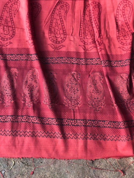 Chanderi Hand Block printed saree. TS 3680J