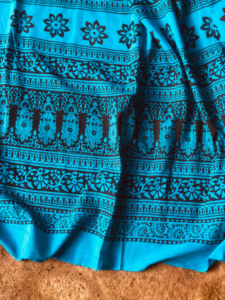 Chanderi Hand Block printed saree. TS 3680F
