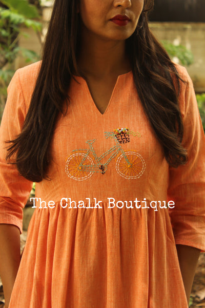 Bicycle Dress GC-D-205B-The Chalk Boutique
