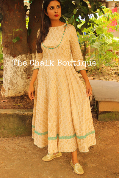 Royal Gold Fit & Flare Dress GC-D-206G-The Chalk Boutique