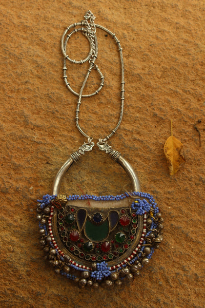 Antique Afghan Pendant Necklace.