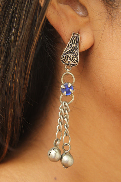 German silver earrings. CN-JUNEAE14