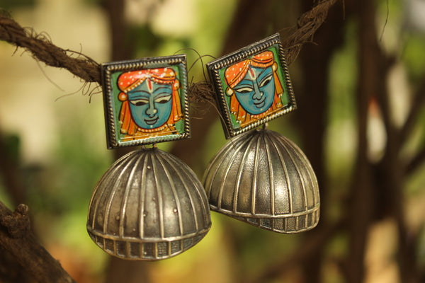 Jagannath Jhumka earrings.