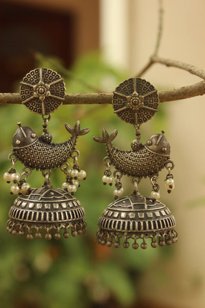 Matsya Round Earrings