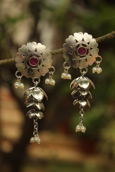 Kamal German Silver Earrings
