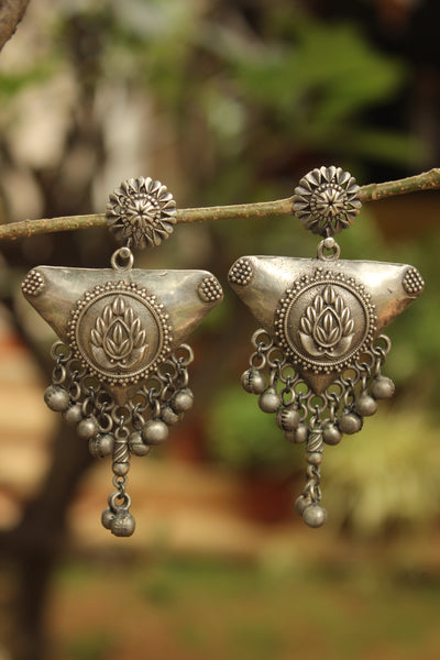 Trikon German Silver Earrings